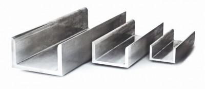 Алюминиевый металлопрокат Швеллер алюминиевый (П-образный профиль)